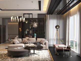 Norm designhaus Ruang Keluarga Modern