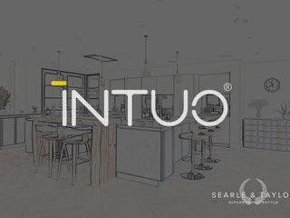 Stunning matt glass kitchen in Fango & Anthracite Intuo Kitchen