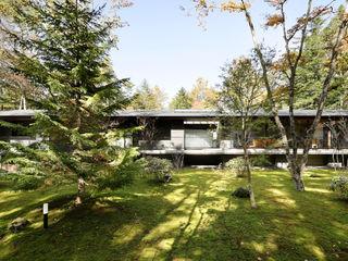 061軽井沢Hさんの家 atelier137 ARCHITECTURAL DESIGN OFFICE 別荘 タイル 灰色
