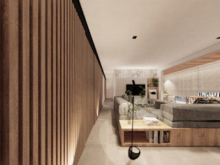 Saulo Magno Arquiteto Minimalist living room Wood White