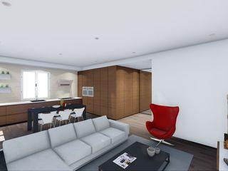 STUDIO ARCHITETTURA SPINONI ROBERTO Ruang Keluarga Modern