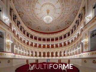 Galli Theater, Rimini MULTIFORME® lighting Lieux d'événements classiques Verre Ambre/Or