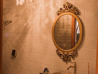 Residência de sítio Élcio Bianchini Projetos Banheiros ecléticos