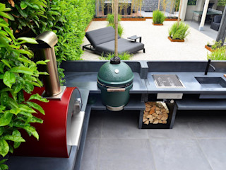 Cocina exterior con mucho espacio en el jardín Alfa Forni Cocinas integrales