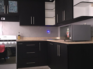 Diseños en Madera Colomex Small kitchens Wood Wood effect