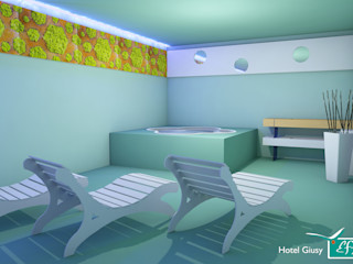 Hotel green Spa Effimera Beauty Wellness Spa Hotel in stile minimalista Legno massello Verde