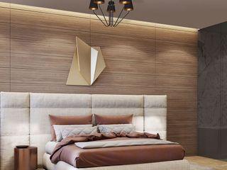 Bedroom's inspiration decorated by lighting from LuxuryChandelier.co.uk Luxury Chandelier LTD Kleines Schlafzimmer Holz Beige