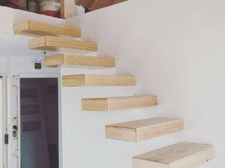 Urbanlift Lda - Engenharia e Reabilitação de Edifícios Couloir, entrée, escaliersEscaliers Bois Ambre/Or