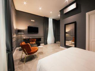 Camere Bed and Breakfast di lusso a Napoli Meka Arredamenti Camera da letto moderna Ambra/Oro