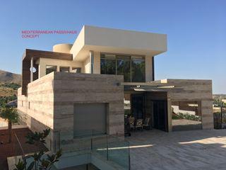 TORRE DYOV STUDIO Arquitectura. Concepto Passivhaus Mediterráneo. 653773806 Villas Mármol Beige