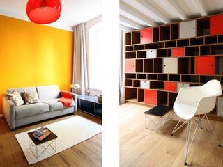 raumdeuter GbR Eklektik Oturma Odası Ahşap Sarı