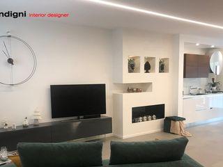 """Progetto residenziale casa """"MIG"""" Abita design srl / Paolo Vindigni Soggiorno moderno"""