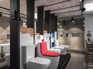 Acor México Industrial style bathroom