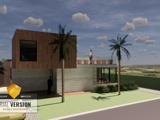 Arquitecto Rafael Viana Balbi - CDMX + Rio de Janeiro 獨棟房 強化水泥 Grey
