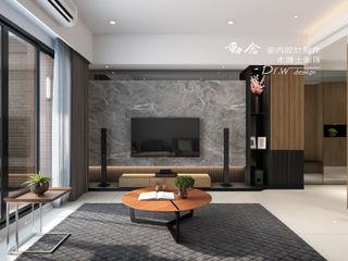 侑信觀邸 木博士團隊/動念室內設計制作 客廳 大理石