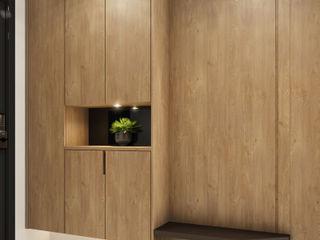 侑信觀邸 木博士團隊/動念室內設計制作 亞洲風玄關、階梯與走廊 木頭