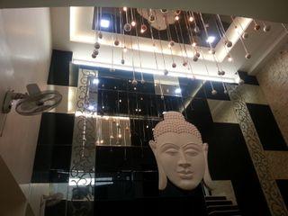 7WD Design Studio Salas de estar modernas Vidro Preto
