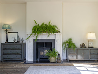 The Hampton Collection Orchid Living roomStorage Wood Grey