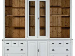 Cerchi spazio per i tuoi libri e oggetti? Mobili a Colori Soggiorno in stile coloniale Legno Bianco