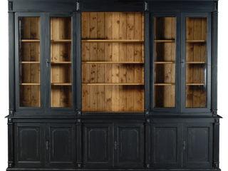 Cerchi spazio per i tuoi libri e oggetti? Mobili a Colori Soggiorno in stile coloniale Legno Nero