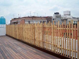 GRENBO Espaços gastronômicos asiáticos Bambu Efeito de madeira