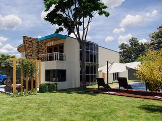 juanbarahona_19 Casas de estilo colonial Ladrillos Beige