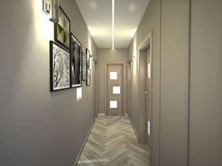 Progetto appartamento per Arredamento Moderno Napoli Meka Arredamenti Ingresso, Corridoio & Scale in stile moderno
