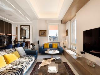 Andrea Orioli Livings de estilo moderno Madera Blanco