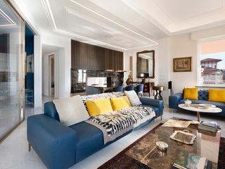 Andrea Orioli Livings de estilo moderno Madera Azul