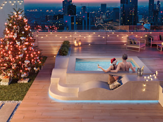 SpaSpace® è la piscina ideale per il tuo terrazzo Aquazzura Piscine Balcone, Veranda & Terrazza in stile moderno