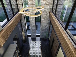 ANTE MİMARLIK Modern corridor, hallway & stairs