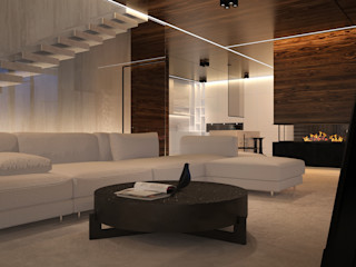 Dmitriy Khanin Minimalistische Wohnzimmer