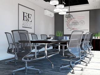 Norm designhaus Ruang Studi/Kantor Gaya Industrial