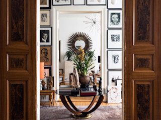 Mid-Century Residenz Interior Design MARKUS HILZINGER Klassische Arbeitszimmer Holz Weiß