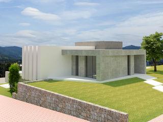Barreres del Mundo Architects. Arquitectos e interioristas en Valencia. Einfamilienhaus Fliesen Grau