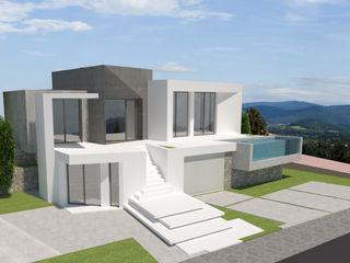 Barreres del Mundo Architects. Arquitectos e interioristas en Valencia. Einfamilienhaus Keramik Weiß