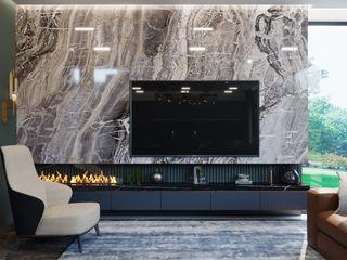 VITTAGROUP 现代客厅設計點子、靈感 & 圖片 大理石 Blue