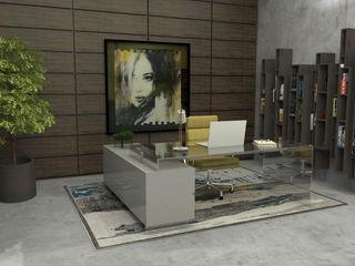 Escritórios ou espaços de trabalho com glamour! Casactiva Interiores Escritórios modernos Castanho