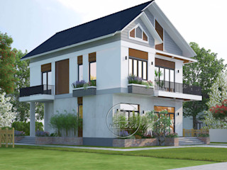 Mẫu thiết kế biệt thự hiện đại đẹp 2 tầng tại Tphcm NEOHouse