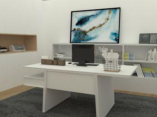 Escritórios ou espaços de trabalho com glamour! Casactiva Interiores Escritórios modernos Branco