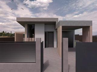Vivienda unifamiliar Passivhaus en La Nou de Gaià (Tarragona) Divers Arquitectura, especialistas en Passivhaus en Sabadell Casas unifamilares Madera Gris