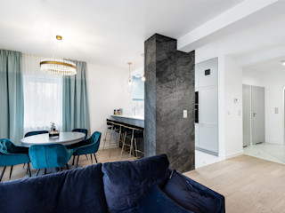 livinghome wnętrza Katarzyna Sybilska Столовая комната в стиле модерн Бирюзовый