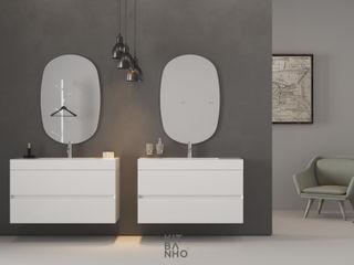 KitBanho ® 洗面所&風呂&トイレ薬用棚 MDF 白色