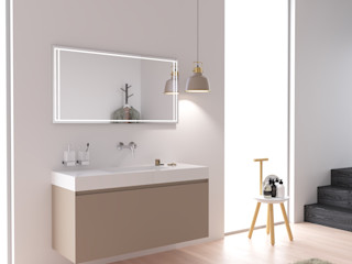 KitBanho ® 洗面所&風呂&トイレ薬用棚 MDF ベージュ