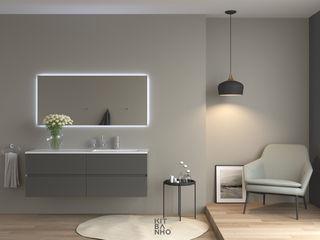 KitBanho ® 洗面所&風呂&トイレ薬用棚 MDF 灰色