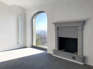 Casa vista Langhe con3studio Soggiorno minimalista