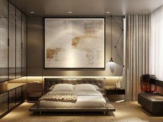 KONUT PROJESİ WALL INTERIOR DESIGN Modern Yatak Odası