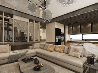 VİLLA PROJESİ WALL INTERIOR DESIGN Modern Oturma Odası