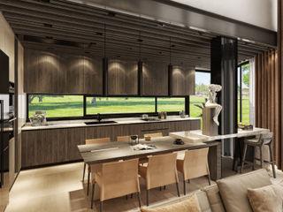 VİLLA PROJESİ WALL INTERIOR DESIGN Modern Mutfak