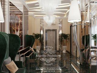 Дизайн-студия элитных интерьеров Анжелики Прудниковой Classic style corridor, hallway and stairs